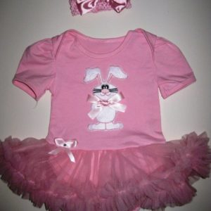 Pink Bunny Tutu Set