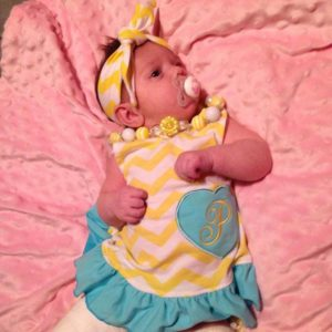 Yellow & Teal Chevron Swing Set
