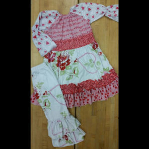 Valentine's or Anytime Roses Dress & Pant Set