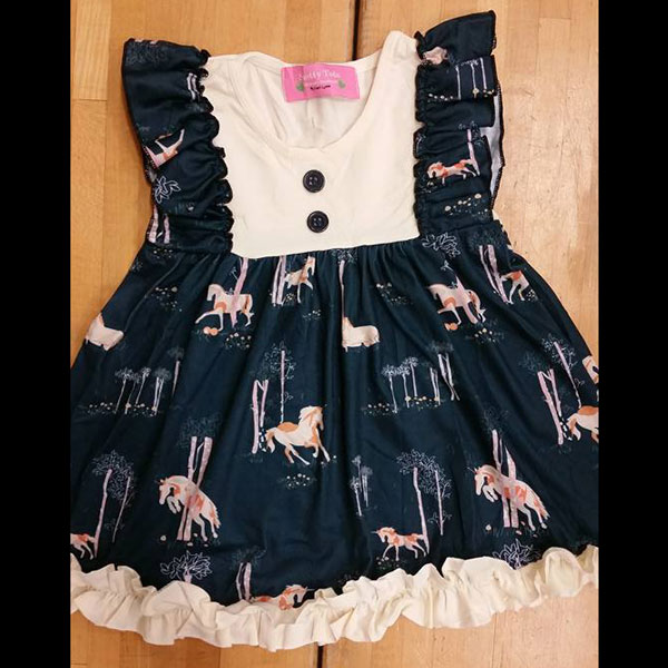 Navy & Ivory Unicorn Dress