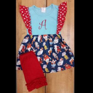 Red & Navy Dwarf Shorts Set