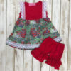 Red Truck & American Flag Shorts Set