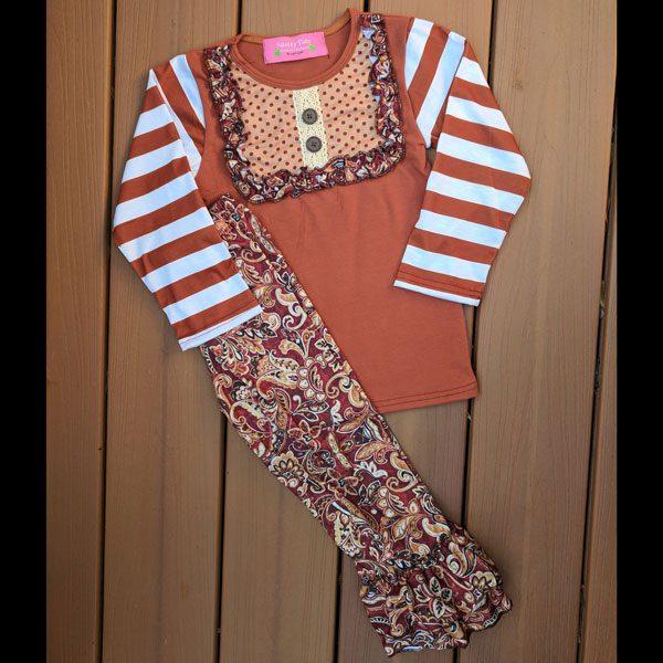 Maroon Floral Shirt & Pants Set