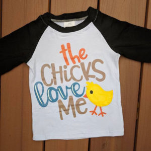 Chicks Love Me Easter Raglan