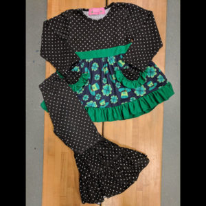 St Patty's Day Dress & Wide Leg Pants Set
