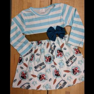 Blue, Navy & Brown Moanna Dress