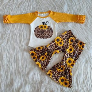 Sunflower Cheetah Bell Set