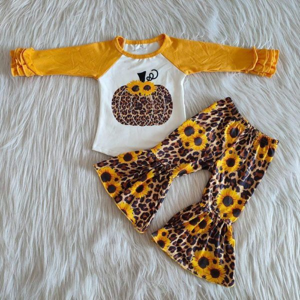 Sunflower Cheetah Bell Set
